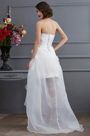 Appliques Organza Lace-up Sweetheart Natural Waist Wedding Dress - 2