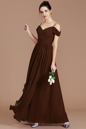 Chiffon Floor Length A-Line Ruched Bridesmaid Dress - 13