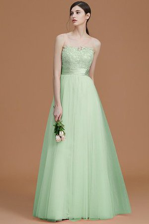 Tulle Zipper Up A-Line Appliques Bridesmaid Dress - 33