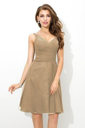 Chiffon Princess Sleeveless Natural Waist Draped Bridesmaid Dress - 6