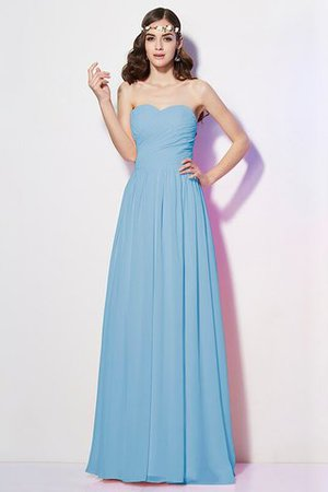 Pleated Zipper Up Empire Waist A-Line Bridesmaid Dress - 3