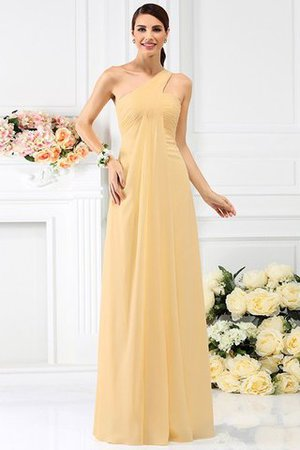 Zipper Up Long Floor Length A-Line Bridesmaid Dress - 12