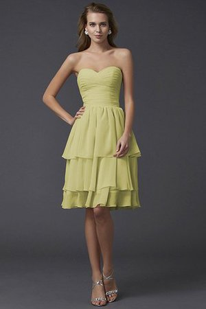 Short Chiffon Sheath Sleeveless Zipper Up Bridesmaid Dress - 6
