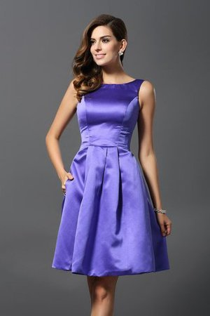 A-Line Knee Length Natural Waist Bridesmaid Dress - 1