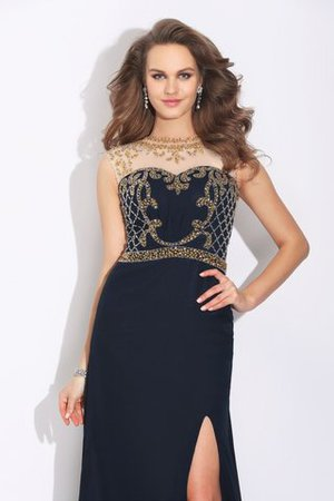 Sleeveless A-Line Natural Waist Sweep Train Evening Dress - 5