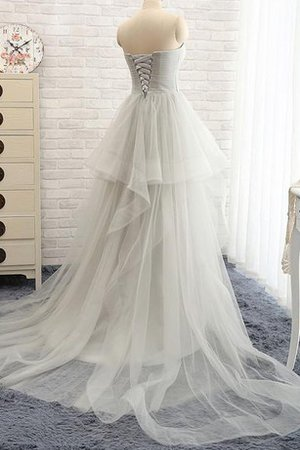 Sweetheart Ruffles A-Line Sexy Tulle Wedding Dress - 2