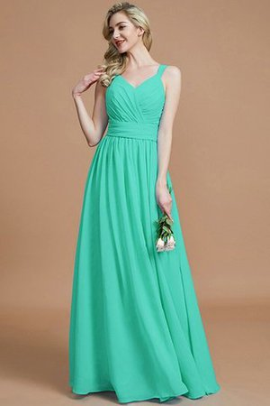 Sleeveless Natural Waist A-Line V-Neck Bridesmaid Dress - 21