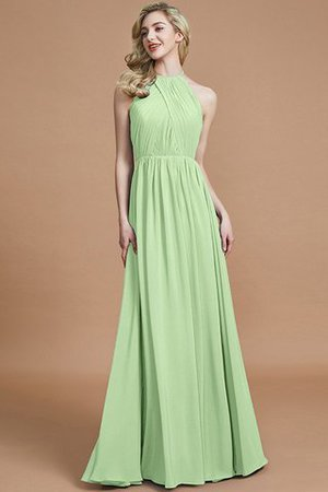 Sleeveless Floor Length A-Line Scoop Bridesmaid Dress - 31