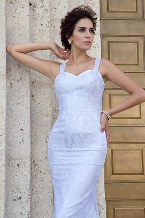 Zipper Up Court Train Sheath Sleeveless Long Wedding Dress - 5