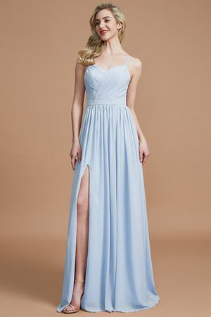 Natural Waist Sleeveless Floor Length Princess Chiffon Bridesmaid Dress - 23