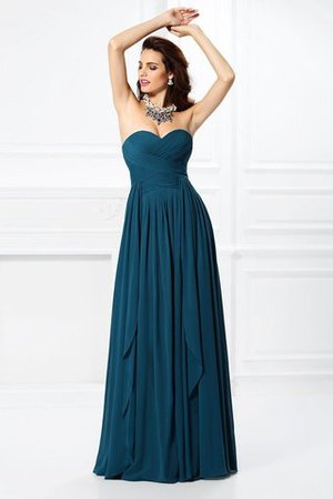 A-Line Zipper Up Long Floor Length Bridesmaid Dress - 1