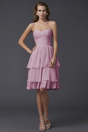 Short Chiffon Sheath Sleeveless Zipper Up Bridesmaid Dress - 22