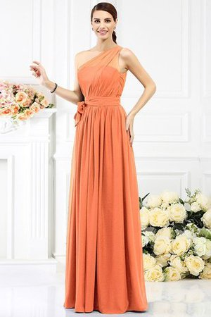 Long Sleeveless A-Line One Shoulder Bridesmaid Dress - 19
