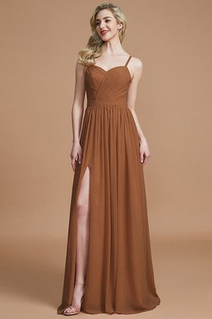 Natural Waist Sleeveless Floor Length Princess Chiffon Bridesmaid Dress - 9