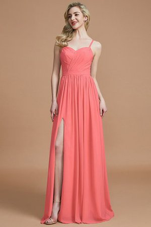 Natural Waist Sleeveless Floor Length Princess Chiffon Bridesmaid Dress - 33
