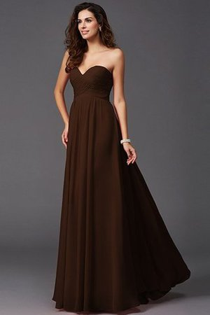A-Line Sleeveless Chiffon Empire Waist Bridesmaid Dress - 7