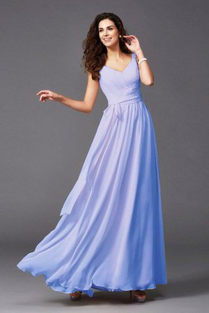 Sashes Floor Length Spaghetti Straps A-Line Bridesmaid Dress - 27