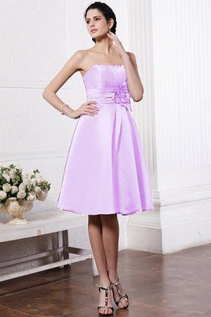 Zipper Up Princess Short Flowers Pleated Bridesmaid Dress - 21