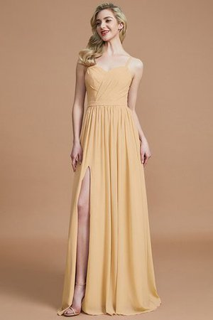 Natural Waist Sleeveless Floor Length Princess Chiffon Bridesmaid Dress - 17