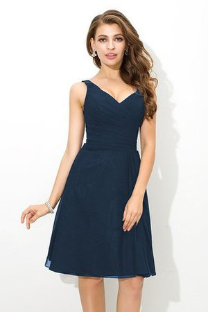 Chiffon Princess Sleeveless Natural Waist Draped Bridesmaid Dress - 10