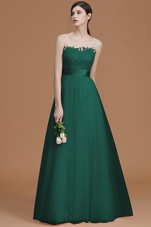 Tulle Zipper Up A-Line Appliques Bridesmaid Dress - 15
