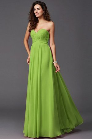 A-Line Sleeveless Chiffon Empire Waist Bridesmaid Dress - 13