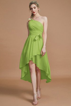 Asymmetrical Chiffon Natural Waist Bridesmaid Dress - 19