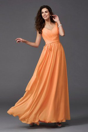 Sashes Floor Length Spaghetti Straps A-Line Bridesmaid Dress - 8