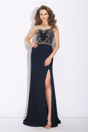 Sleeveless A-Line Natural Waist Sweep Train Evening Dress - 3
