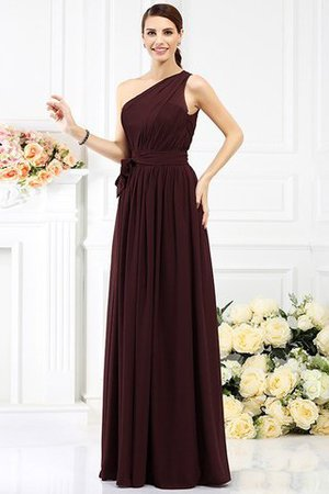 Long Sleeveless A-Line One Shoulder Bridesmaid Dress - 6