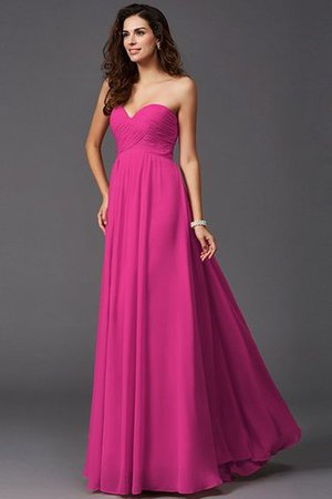 A-Line Sleeveless Chiffon Empire Waist Bridesmaid Dress - 11