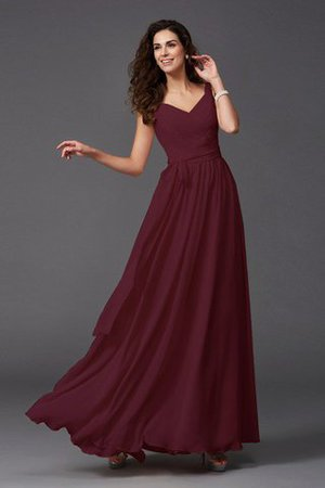 Sashes Floor Length Spaghetti Straps A-Line Bridesmaid Dress - 22