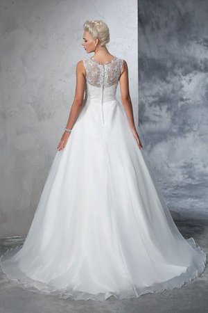 Empire Waist Ball Gown Long Sleeveless Lace Wedding Dress - 2