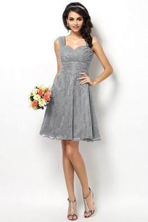 Wide Straps Short Sleeveless Natural Waist Satin Bridesmaid Dress - 27