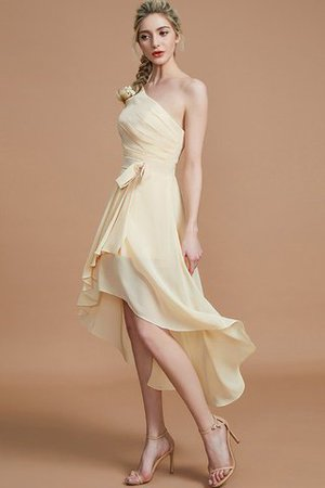 Asymmetrical Chiffon Natural Waist Bridesmaid Dress - 3