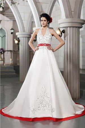 Long Princess V-Neck Sleeveless Empire Waist Wedding Dress - 1