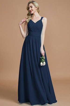 Sleeveless Natural Waist A-Line V-Neck Bridesmaid Dress - 16