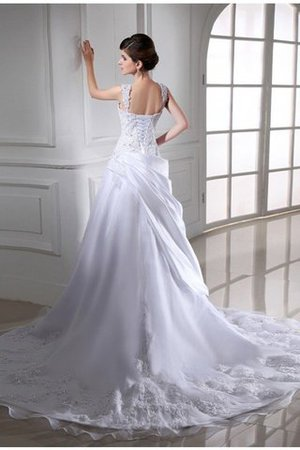 Organza Beading Sleeveless Empire Waist Strapless Wedding Dress - 2