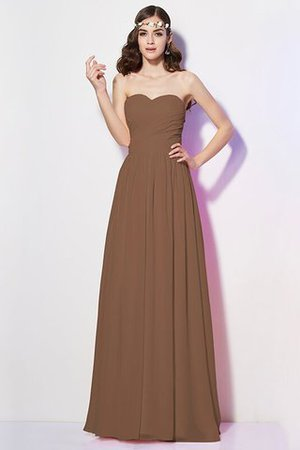 Pleated Zipper Up Empire Waist A-Line Bridesmaid Dress - 2