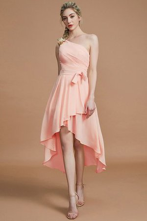 Asymmetrical Chiffon Natural Waist Bridesmaid Dress - 26