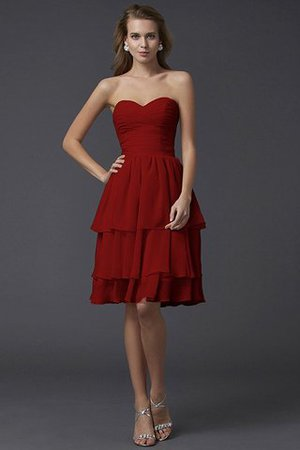 Short Chiffon Sheath Sleeveless Zipper Up Bridesmaid Dress - 23