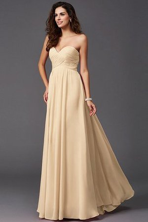 A-Line Sleeveless Chiffon Empire Waist Bridesmaid Dress - 5