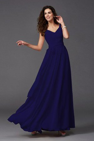 Sashes Floor Length Spaghetti Straps A-Line Bridesmaid Dress - 12