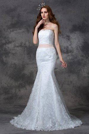 Backless Mermaid Lace Court Train Wedding Dress - 3
