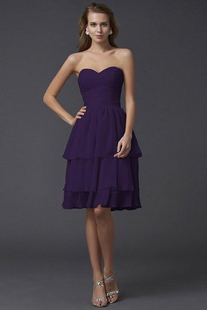 Short Chiffon Sheath Sleeveless Zipper Up Bridesmaid Dress - 13