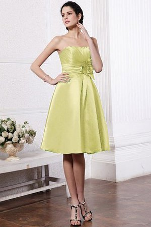 Zipper Up Princess Short Flowers Pleated Bridesmaid Dress - 9