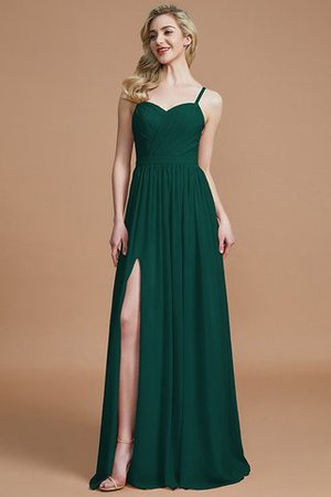 Natural Waist Sleeveless Floor Length Princess Chiffon Bridesmaid Dress - 14