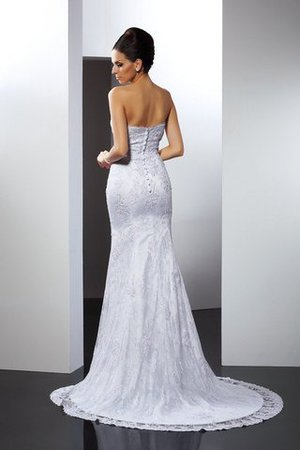 Mermaid Sleeveless Long Appliques Lace Wedding Dress - 4