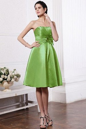Zipper Up Princess Short Flowers Pleated Bridesmaid Dress - 13