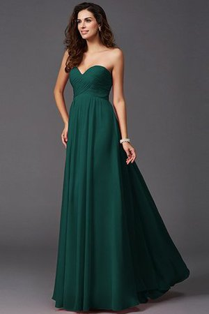 A-Line Sleeveless Chiffon Empire Waist Bridesmaid Dress - 8